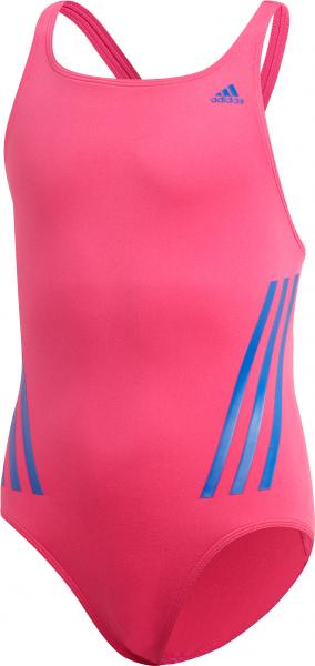 adidas Mädchen Pro V 3-Streifen Badeanzug