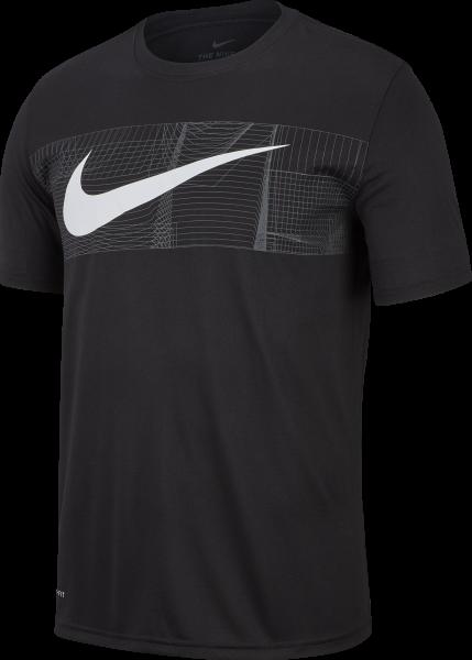 NIKE Herren Training T-Shirt M NK DRY TEE LEG SWH + BLOCK
