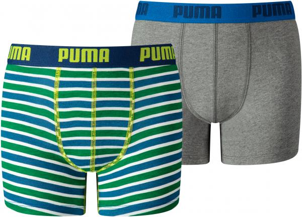 PUMA Kinder Unterhose BASIC BOXER PRINTED STRIPE 2P