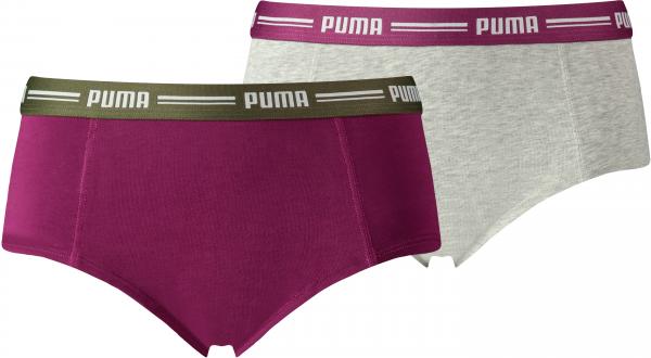 PUMA Damen Unterhose ICONIC MINI SHORT 2P