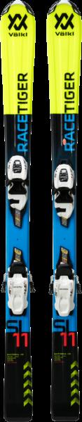 VÖLKL Kinder Racing Ski RACETIGER JR YELLOW+VMOTION 7.0JR R
